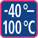 minus 40 to 100 degree celsius