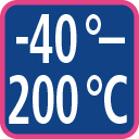 minus 40 to 200 degree celsius
