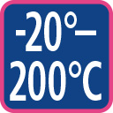 minus 20 to 200 degree celsius