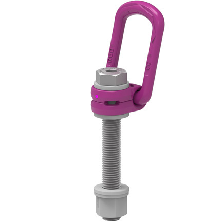 VLBG-PLUS Load ring, metric thread with max. length, comes with locknut and washer