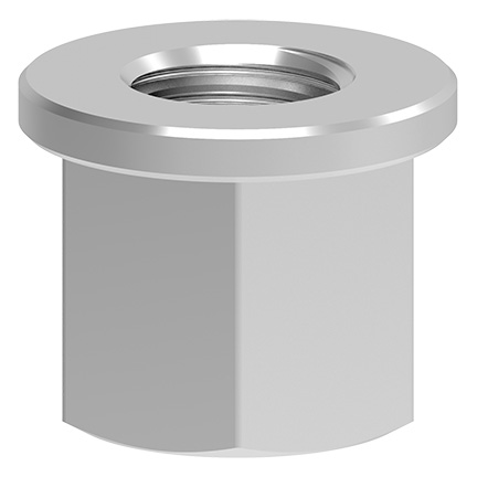Collar nut DIN6331 Grade 10, crack tested, height: 1.5 x M